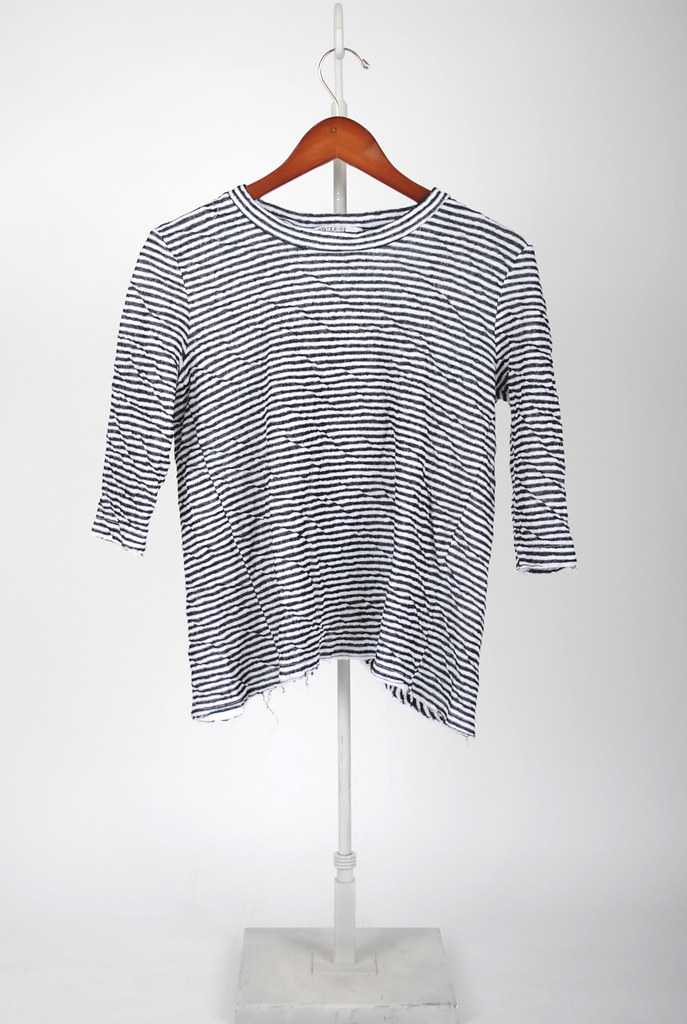Open Back Stripe Pullover