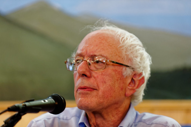 US Senator of Vermont Bernie Sanders in Berlin NH on August 24th, 2015 by Michael Vadon