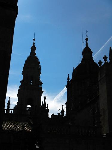 The cathedral in Santiago de Compostela, Spain