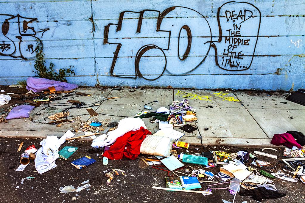 Garbage and graffiti on 8-23-15--Kensington