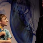 Nick Sharratt | Lots of silliness unfolding at Nick Sharratt's Book Festival event © Helen Jones