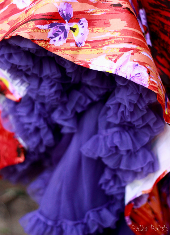 Purple petticoat by Malco Modes is the perfect companion to a Pin Up Girl Clothing skirt