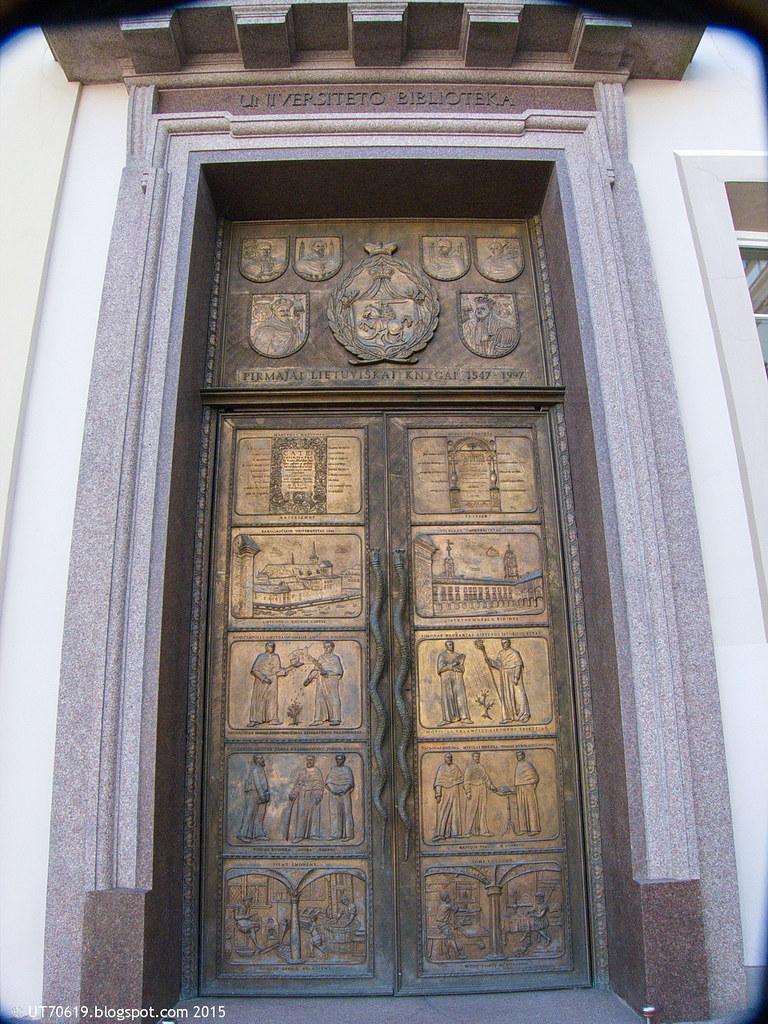 Tür der Uni-Bibliothek