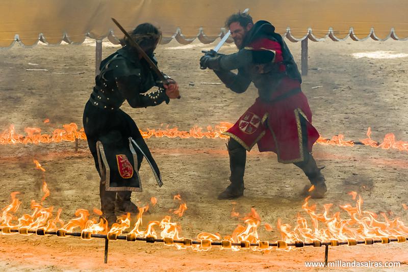 Epic battle! Circulo de fuego y combate a muerte!