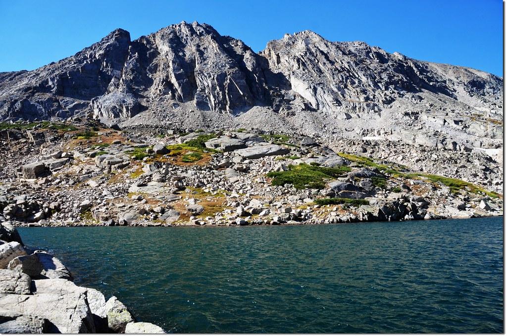 Blue Lake, background is Little Pawnee Peak 1