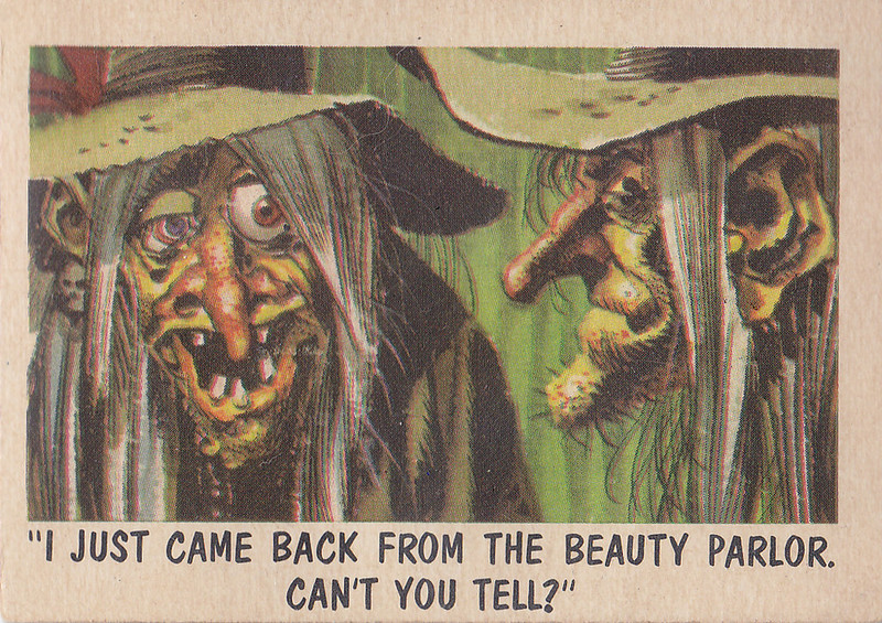 """You'll Die Laughing"" Topps trading cards 1959,  illustrated by Jack Davis (01)"