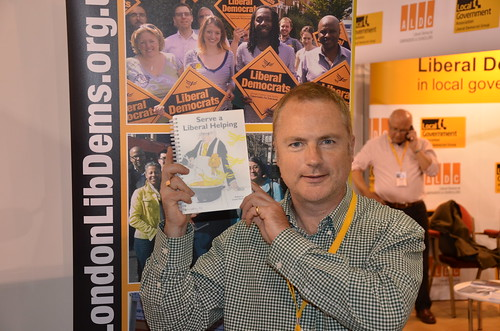 Jonathan with Lib Dem cookbook Sept 15