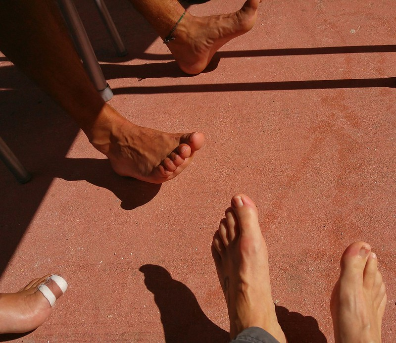 Bare feet on the Camino