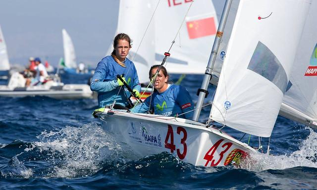Silvia Mas y Paula Barceló durante el pasado Mundial de 470 © Ronen Topelberg/Aquazoom