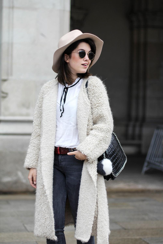 blusa con lazo y chaqueta de mohair myblueberrynightsblog