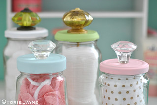 Upcycled Jars with Knobs 4