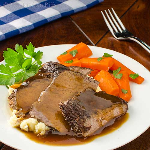 Kitchen Riffs: Wine-Braised Beef Pot Roast