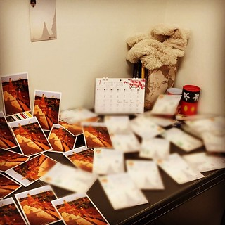 Almost died in writing dozens of postcards..........