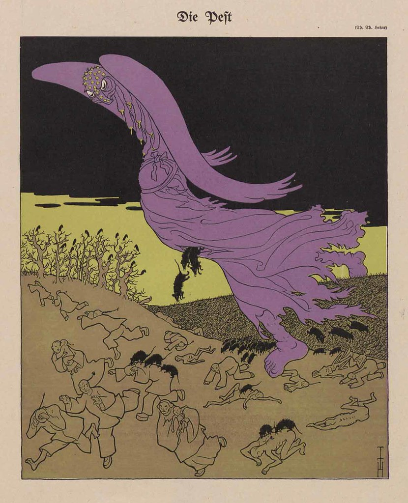 Thomas Theodor Heine - The Plague, 1911