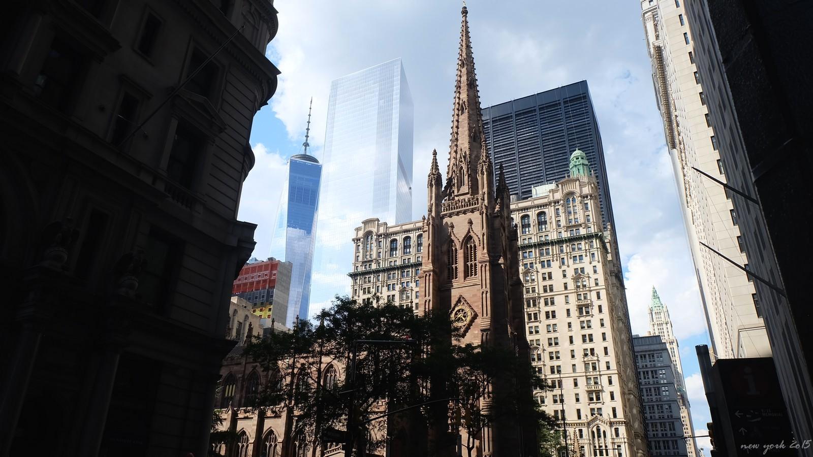Trinity Church, Broadway, New York City, USA