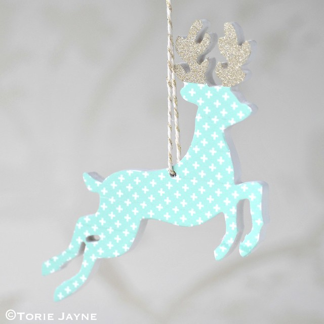 Washi tape hanging deer