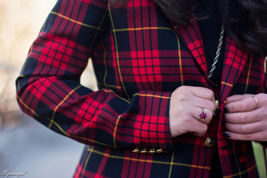 faux jumpsuit, red plaid blazer, red coach bag-8.jpg