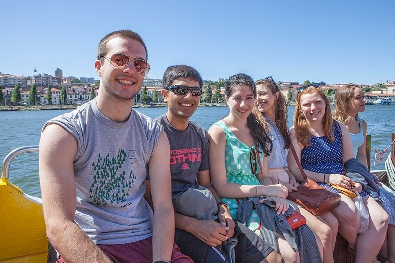 Geneseo Chamber Singers on Duoro River boat trip in Lisbon