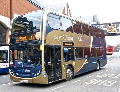 YN64 AOD 'Stagecoach Yorkshire' No. 15193 Scania 230UD / Alexander Enviro 400 on Dennis Basford's 'railsroadsrunways.blogspot.co.uk'