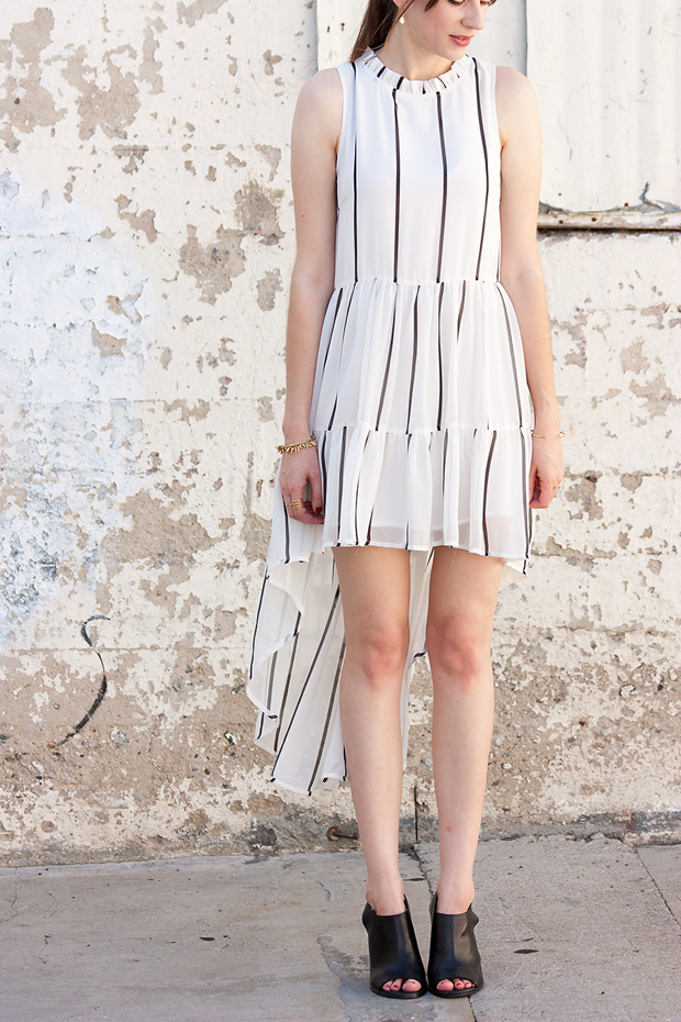Elliatt Tunic Dress, Black Mules