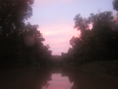 Evening sky on Ward Creek.