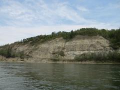 Canoeing down the North Saskatchewan River
