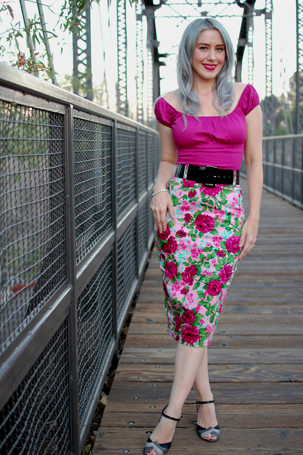 Pinup Girl Clothing Curves Skirt and Vamp Top