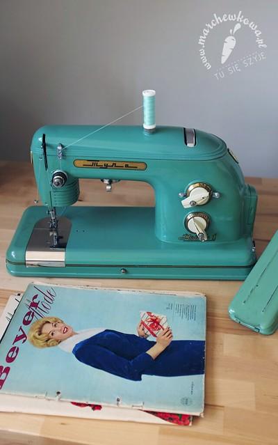 Russian sewing machine, Tula, Tuła, rosyjska maszyna do szycia, mint, Wrocław szyje