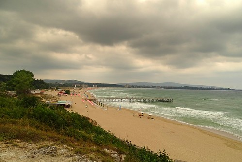sea summer beach nature water weather clouds landscape pier sand waves view bulgaria blacksea primorsko