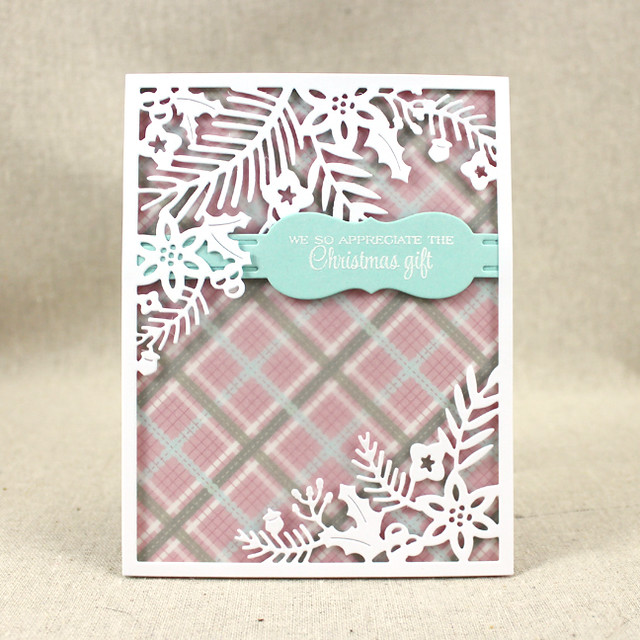 Winter Floral Thank You Card