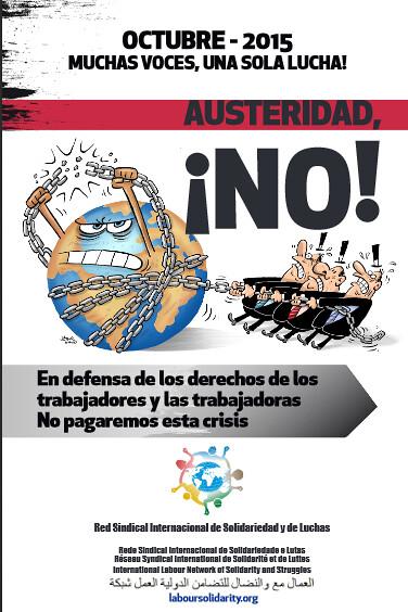 Convocatòria internacional d´organitzacions sindicals d´Àfrica, de les Amèriques, d´Àsia i d´Europa. Octubre 2015 : setmana d´acció internacional