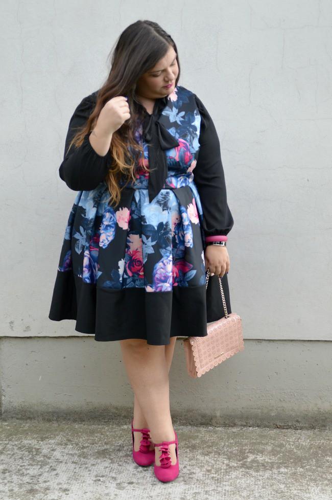 Outfit nero e fiorato (2)