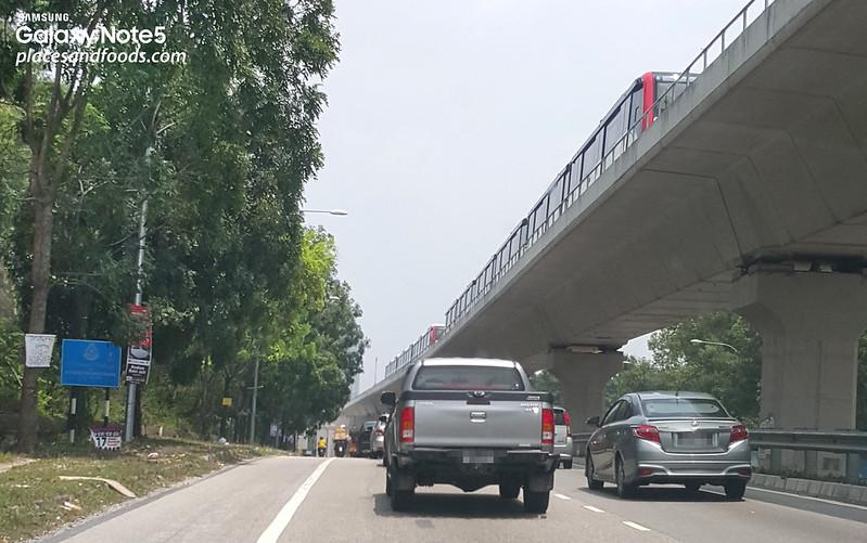 LRT trains at Awan Besar, Alam Sutera, Muhibbah and Kinrara BK5 LRT Stations