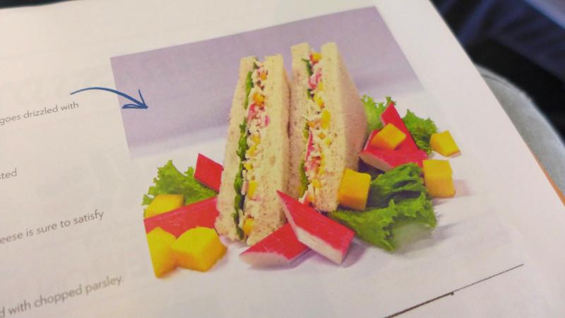 Kani Mango Sandwich