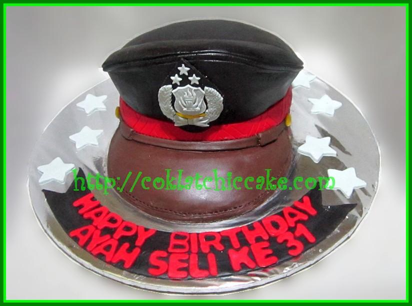 Cake Topi Polisi