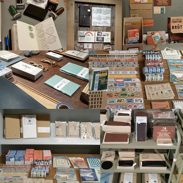 Traveler's Factory pop up store at @misc_store_ams until 24th of november. lots of great exclusive traveler's notebook stuff and this weekend there is a traveler's notebook caravan where you can compose your own notebook with different midori papers! Exci