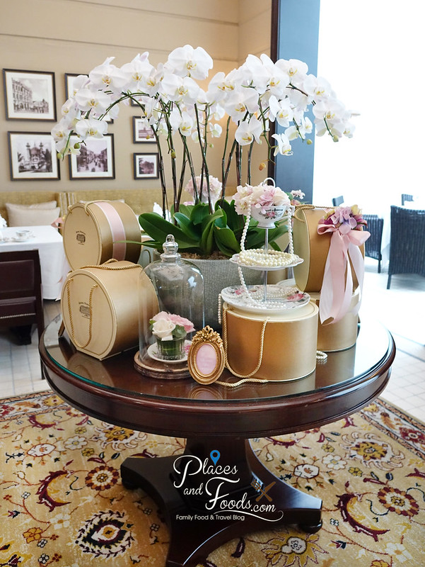 majestic hotel afternoon tea decoration on table