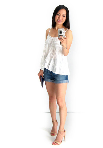 White Cotton Cami Top