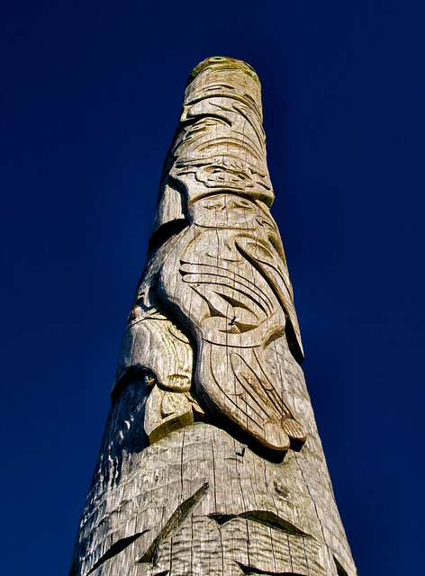 First Nations totem pole