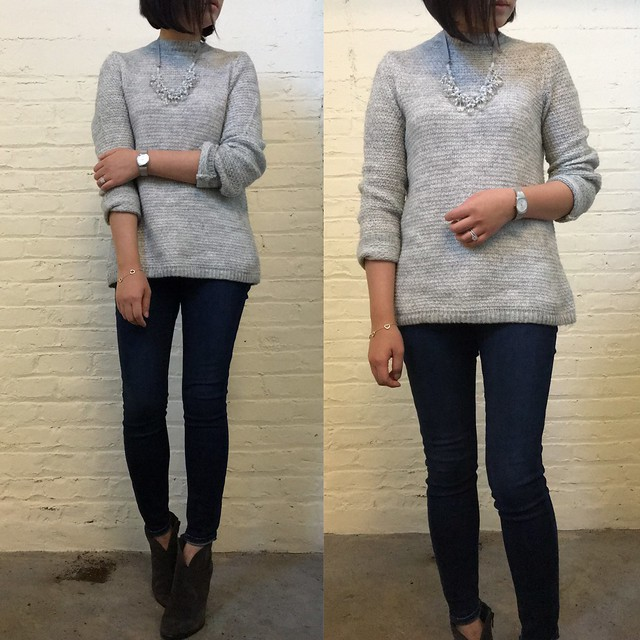 LOFT Stitchy Mockneck Sweater, size S regular
