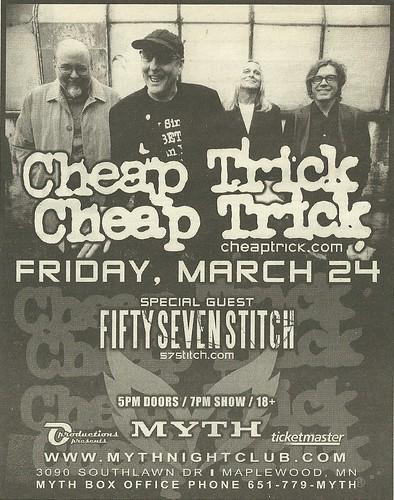 03/24/06 Cheap Tirck/ Fifty Seven Stitch @ Myth, Maplewood, MN