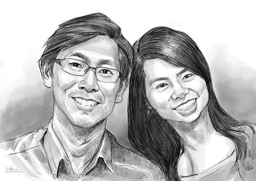 First commissioned digital portraits on iPad Pro + Apple Pencil!😜😅 Usually clients would like their portraits on paper. This is an exceptional case. He saw my digital portrait of Sean Lau done 2 weeks ago. He wante