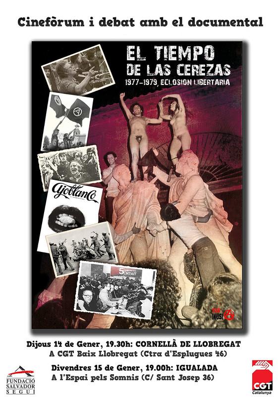 Cinefòrum i debat amb el documental el tiempo de las cerezas (1977-1979, eclosion libertaria)