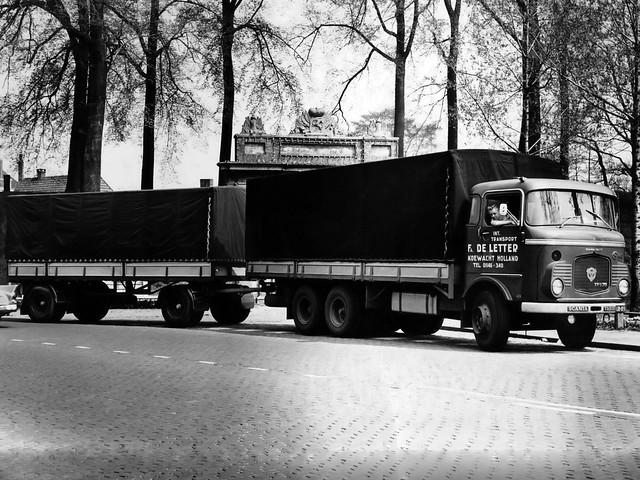 Грузовик с прицепом Scania-Vabis LVS75 Super. 1958 год