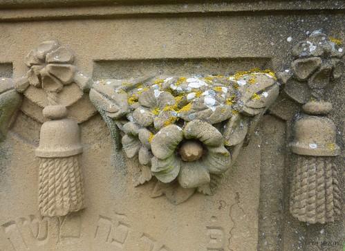 Jüdischer Friedhof Georgensgmünd, Detail eines Grabsteins