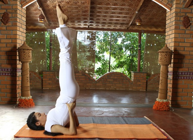 Sarvangasana yoga for thyroid problems