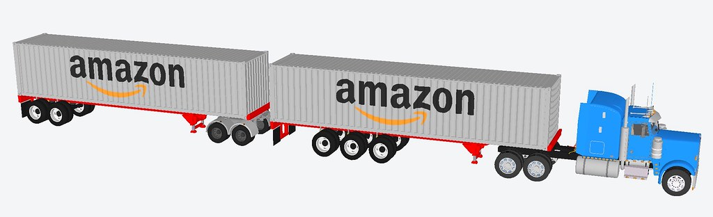 40 foot container Amazon trailer
