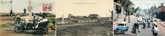 Saigon Hippodrome, the horse racing track - Cổng trường đua ngựa cũ, Rue Verdun (đường Lê Văn Duyệt trước 1975, nay là CMT8)