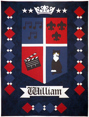 William's Favorite Things Custom Quilt by Whimzie Quiltz and More