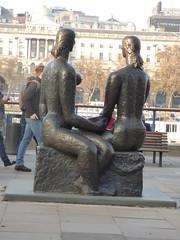 The Queens Walk - South Bank, London - bronze statue - London Pride